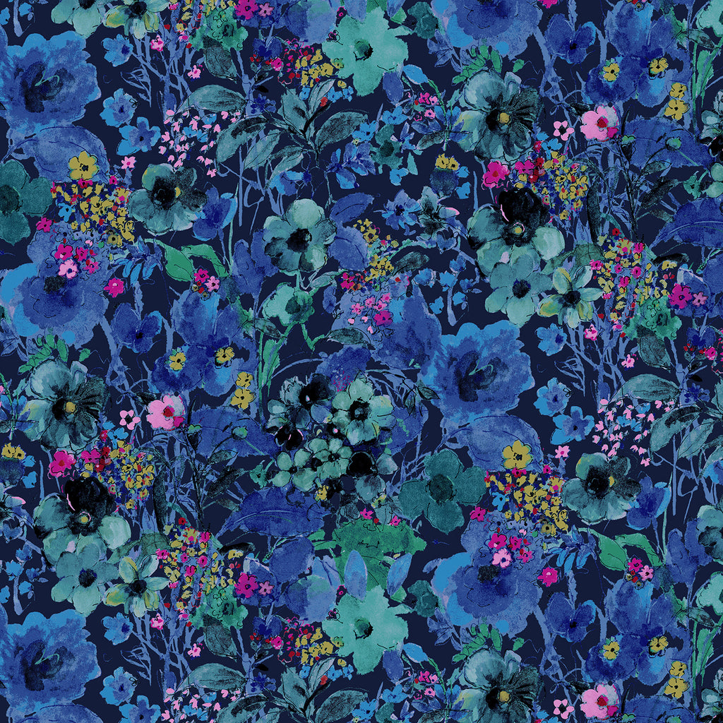 Bloom Bloom Butterfly - Moonlit Blooms Midnight | RJ1203-M13