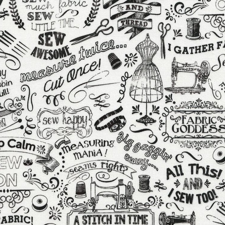 A Stitch In Time - Sew Many Sayings | GAIL-C3417-WHITE