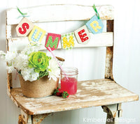 Kimberbell Designs | That's Sew Chenille: Alphabet Pennant - Machine Embroidery