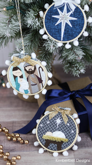 Kimberbell Designs | Happy Hoop Decor Vol. 2: Christmas Nativity Ornaments - Machine Embroidery