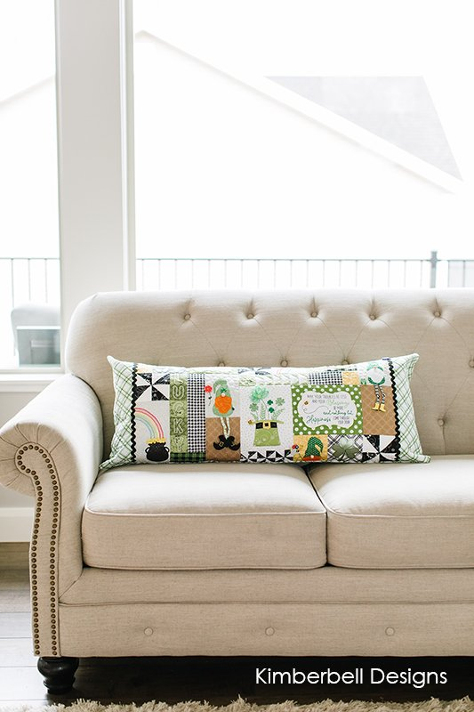Kimberbell Designs | Luck o' the Gnome Bench Pillow - Machine Embroidery