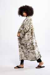 COTTON KAFTAN FOR WOMAN WITH PATTERNS - SA TALAIA - ZALIVAKO