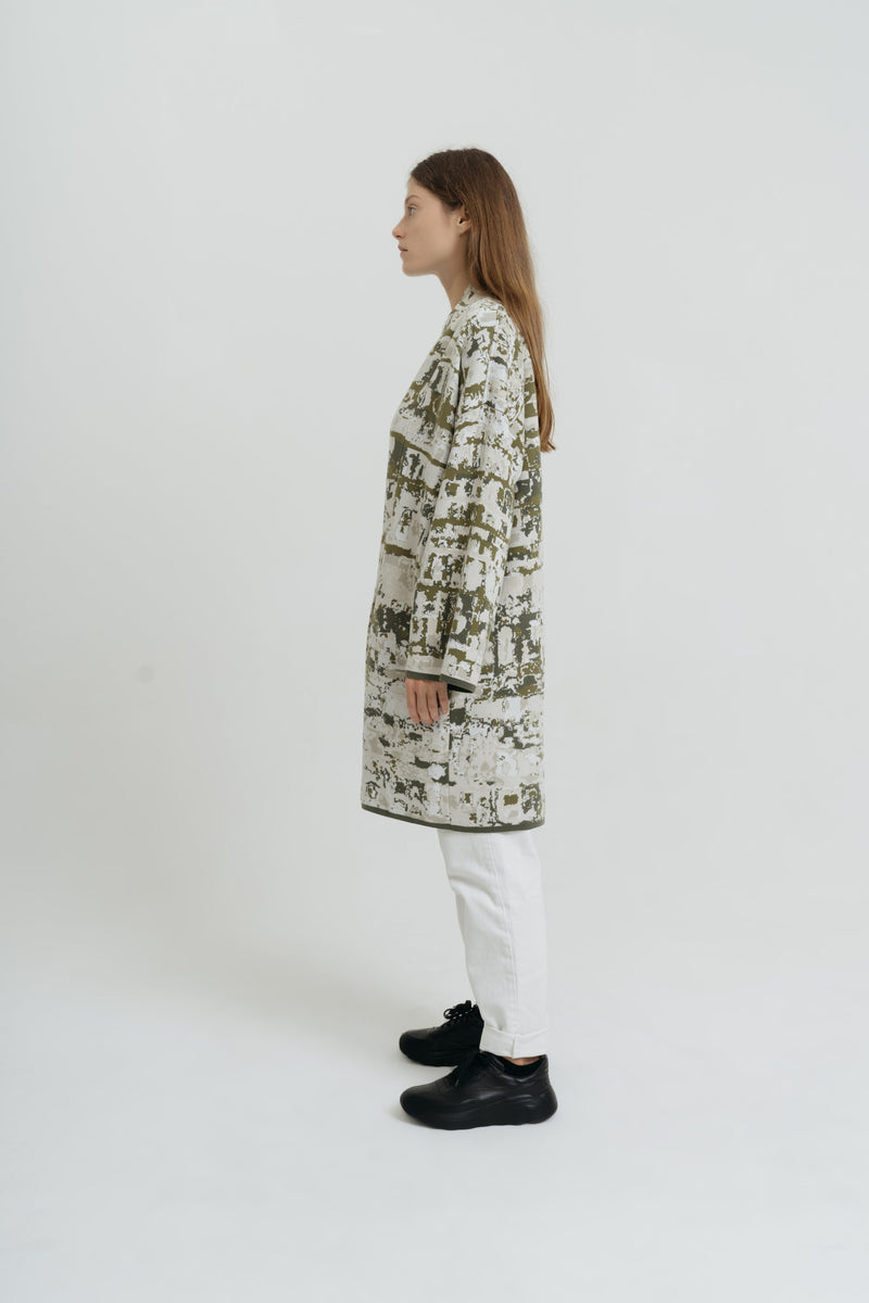 Cotton Kaftan for Woman with Patterns - Sa Talaia Short - ZALIVAKO