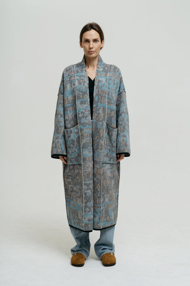 Cotton Kaftan for Woman with Patterns - Ses Roques Long - ZALIVAKO