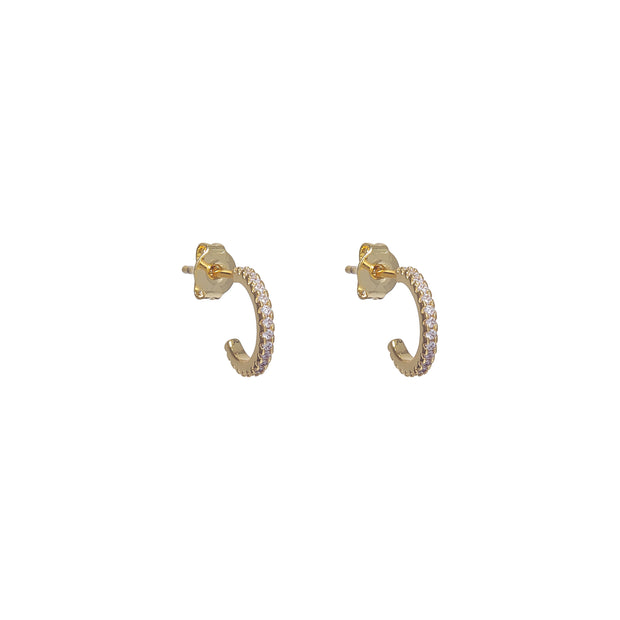 Classic Gold Stack Huggie Earrings