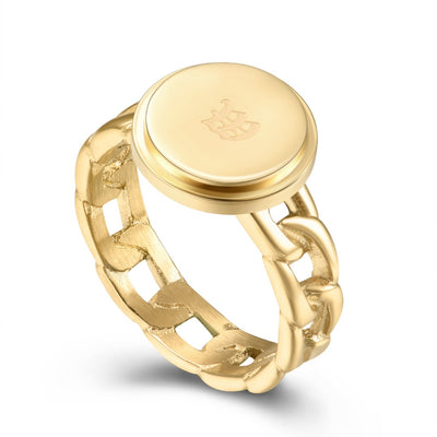 Classic Gold Chain Link Ring
