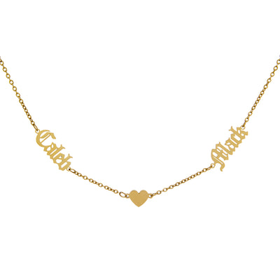 Double Name Heart Necklace