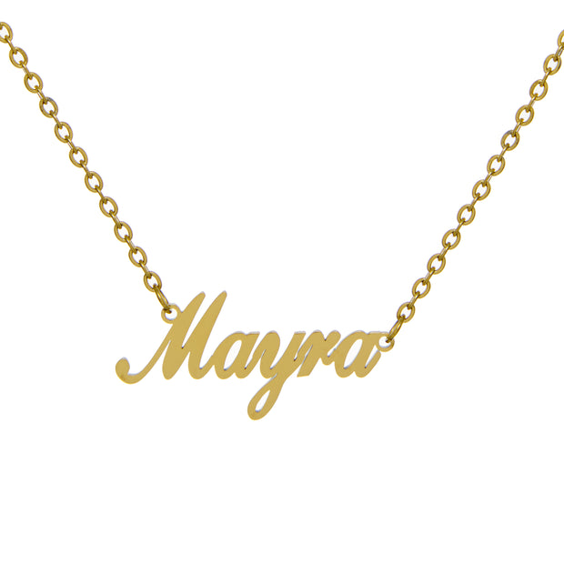 Mayra - Custom Script Nameplate Necklace