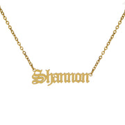 Classic Old English Nameplate Necklace