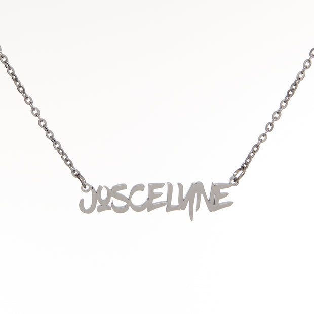 Graffiti Nameplate Necklace