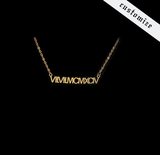 Trendy custom the roman numeral necklace