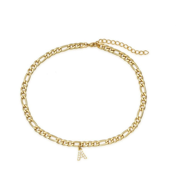 Iced Initial Anklet