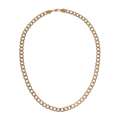 Bold copper thick gold curb chain necklace in 3 styles