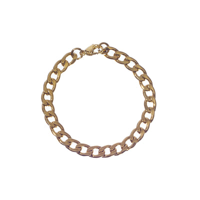 Stainless Steel Gold Chain Link Bracelet