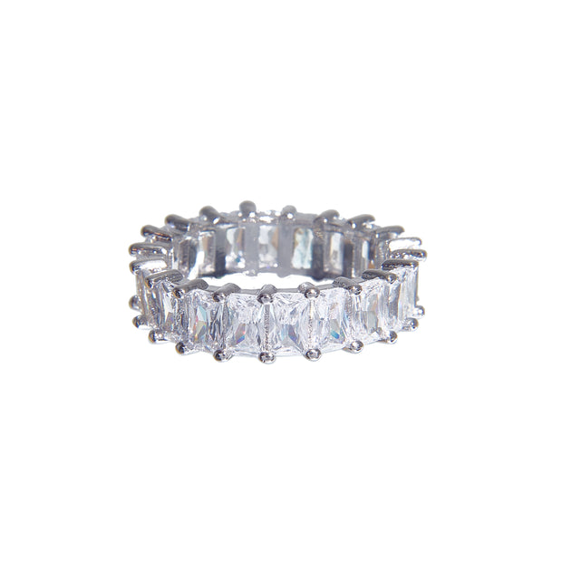 Cute tarnish-free multi-color classic crystal ring in 4 colors - crystal 2