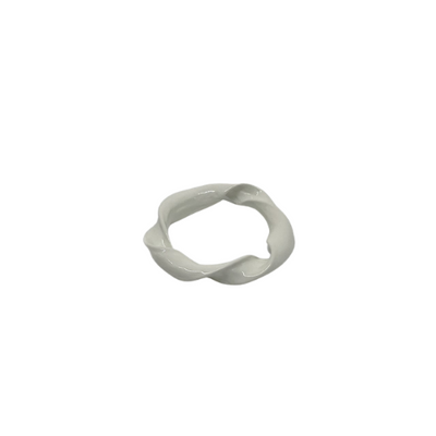 White Twist Ring