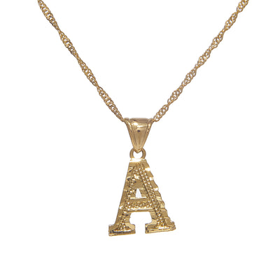 Block Letter Necklace