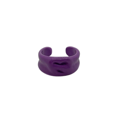 Purple Pretzel Ring
