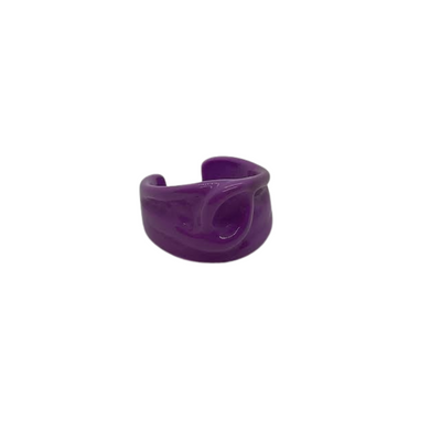 Purple Loop Ring