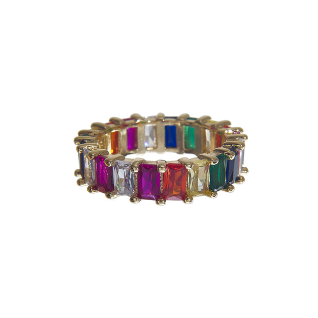 Mini Iced Rainbow Ring