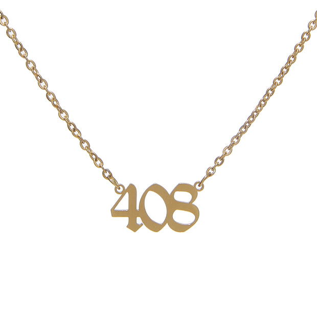 Trendy stainless steel custom area code necklace