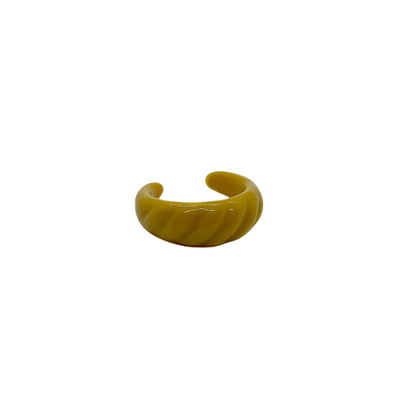 Yellow Ribbed Ring