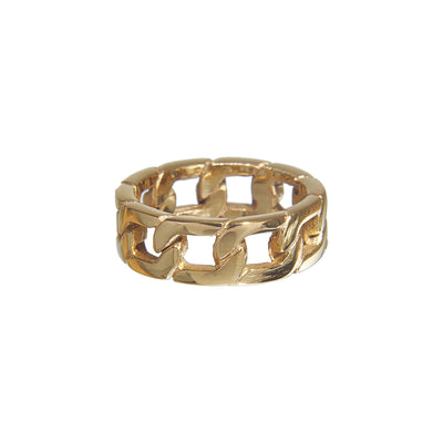 Stylish stainless steel thick chain link ring