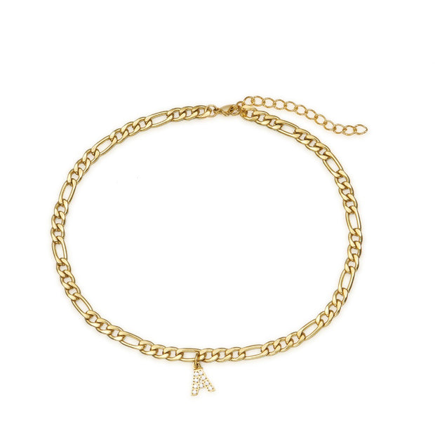 Tarnish-Free Gold Anklet with Initial