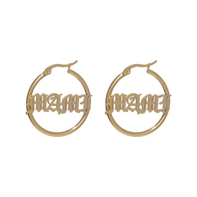 Custom Hoop Earrings