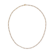 Gold-Plated Layering Figaro Chain Necklace