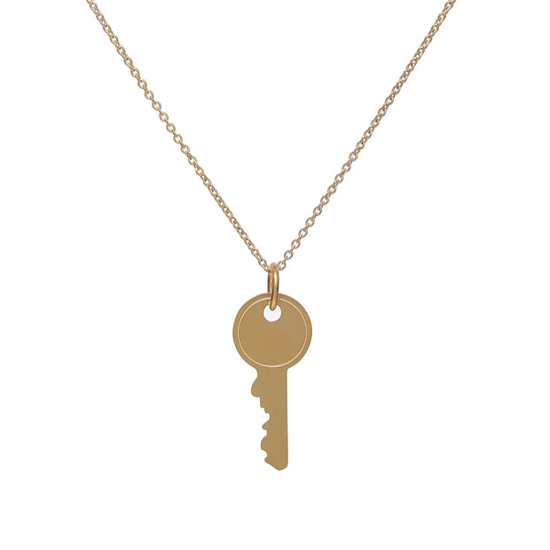 Tarnish-Free Gold Chain Necklace with Locked Pendant