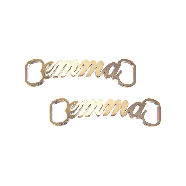 Trendy Gold Customized Shoe Nameplate - Emma