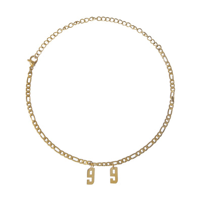 Stylish Tarnish-Free Chain Year Anklet