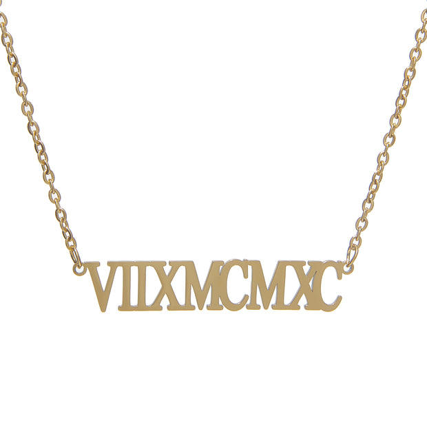 Trendy the roman numeral necklace