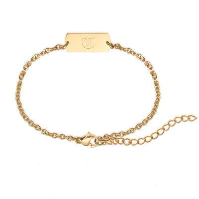 Classic Gold Chain Tag Bracelet