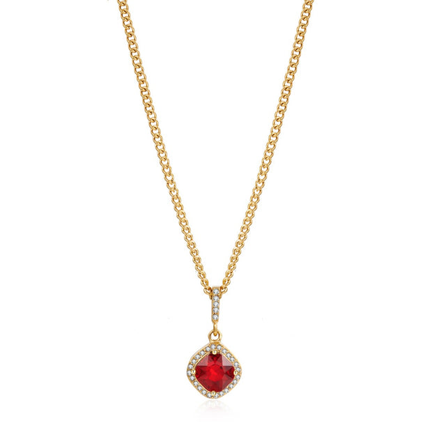 Iced Ruby Necklace