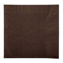 NAPKIN BEVERAGE 2 PLY CHOCOLATE BROWN, 254 mm X 254 mm, Case of 1000