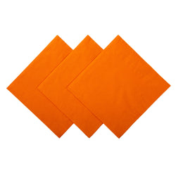 NAPKIN BEVERAGE 2 PLY ORANGE 254 mm X 254 mm, Case of 1000