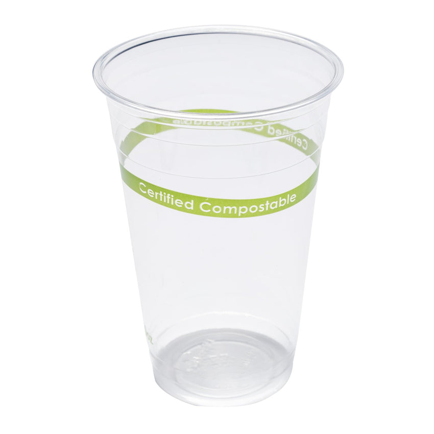 590 mm-CLEAR PLA CUP-COMPOSTABLE, Case of 1000