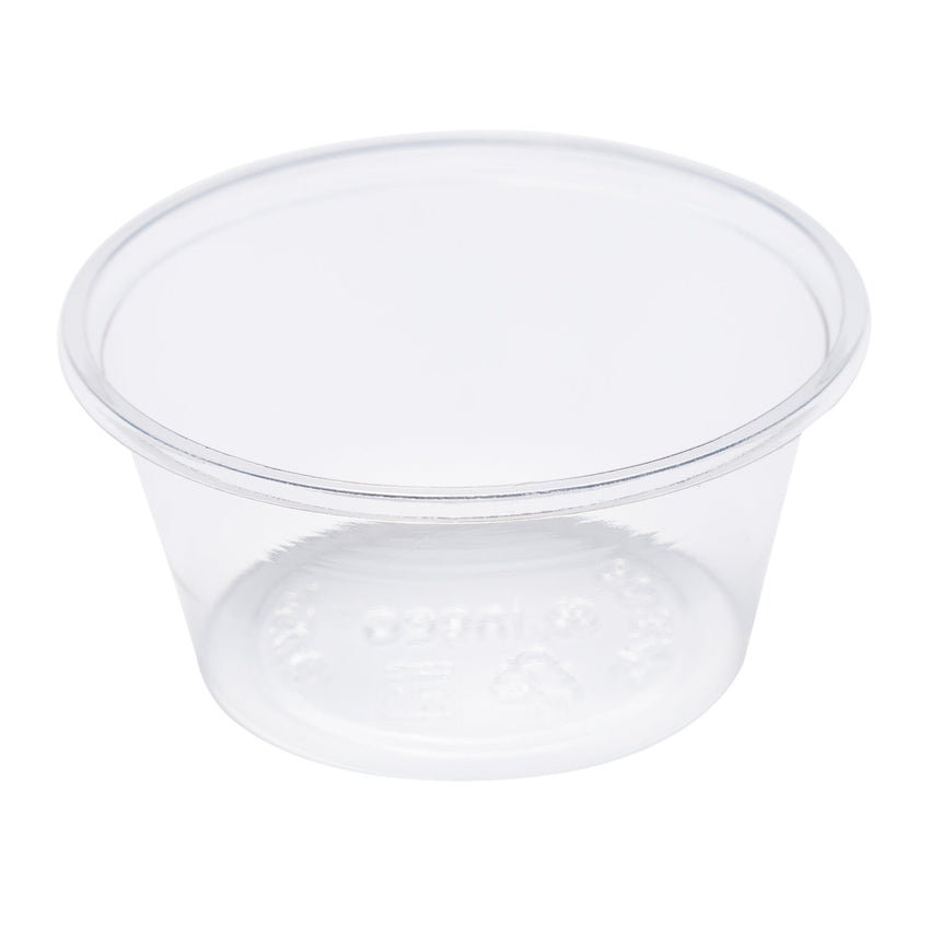 100 ml-CLEAR PLA PORTION CUP-COMPOSTABLE, CASE OF 2500
