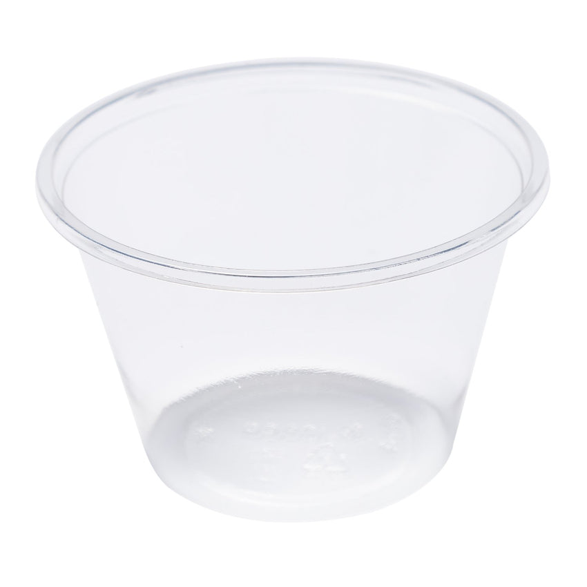 120 ml -CLEAR PLA PORTION CUP-COMPOSTABLE, CASE OF 2500