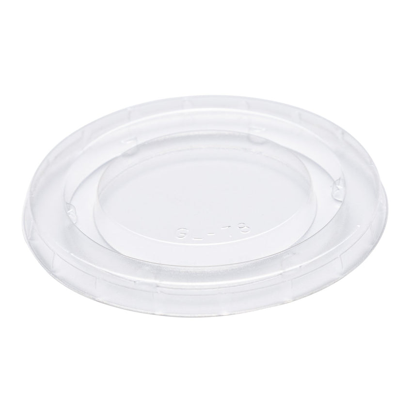 100 ml -118 ml  OZ CLEAR PLA LID-COMPOSTABLE, CASE OF 2500