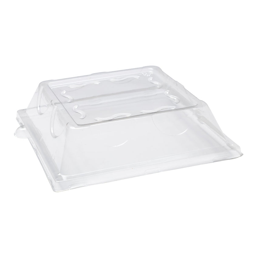 203 mm SQUARE PLATE CLEAR LID, Case of 500