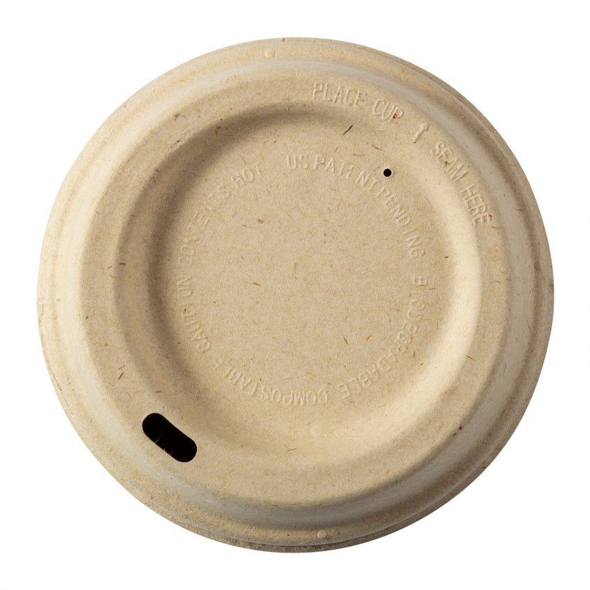 12-20 OZ FIBER LID-COMPOSTABLE, 10/50