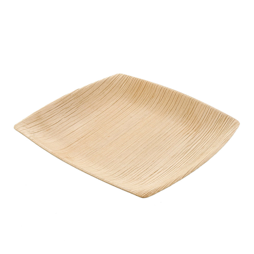 152 mm SQUARE PALM LEAF COCKTAIL PLATE, Case of 100