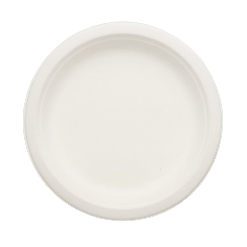 SUGARCANE (BAGASSE) PLATES ROUND 178 mm, Case of 1000