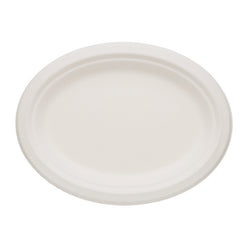 SUGARCANE (BAGASSE) PLATES OVAL 190 mm X 254 mm, Case of 500
