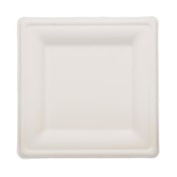 SUGARCANE (BAGASSE) PLATES SQUARE 200 mm X 200 mm, Case of 500