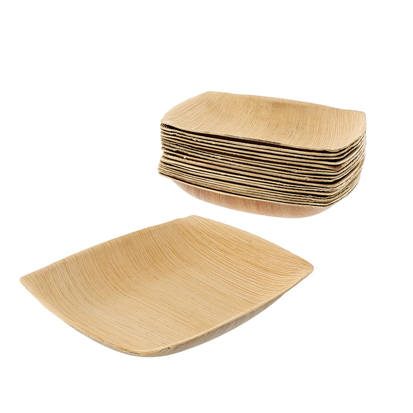 152 mm X 203 mm PALM LEAF PLATTER, SLOPED SIDES, Case of 100