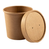 355 ml KRAFT PAPER FOOD CONTAINER AND LID COMB, Case of 250